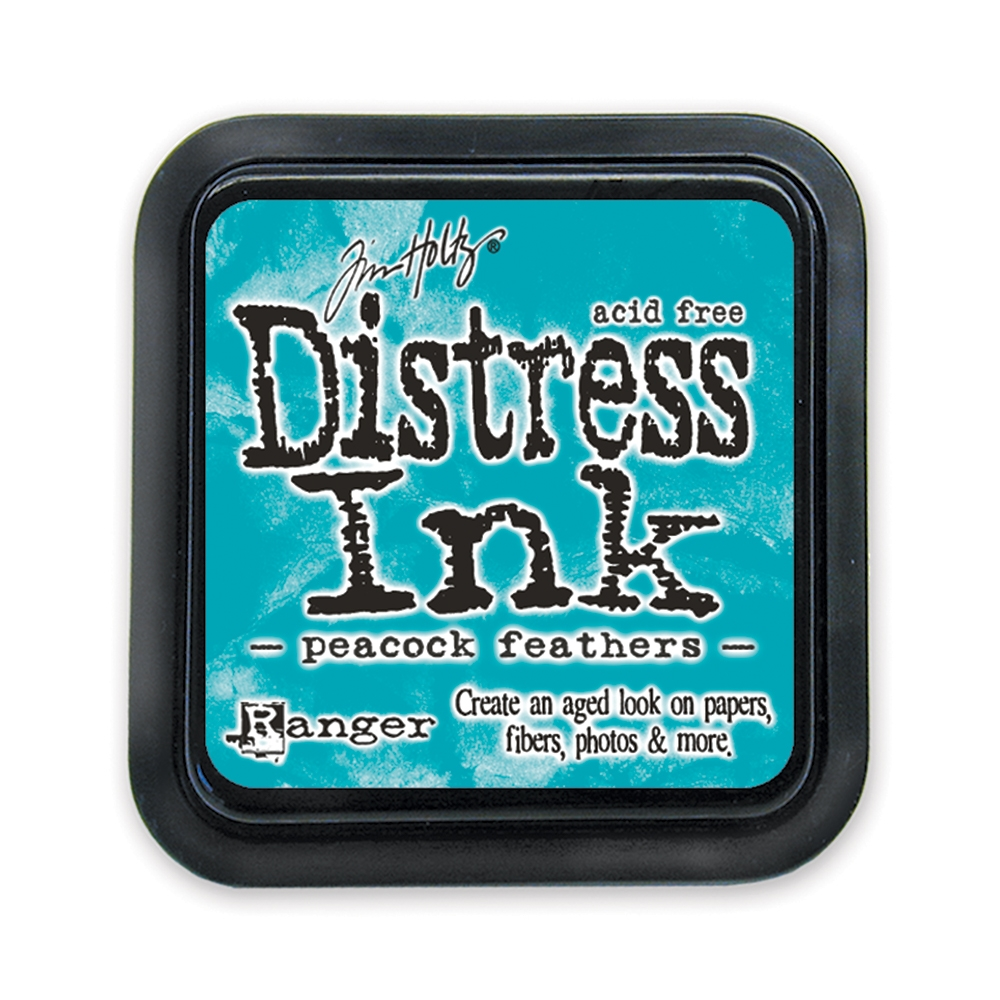 Tim Holtz Distress Ink Pad PEACOCK FEATHERS Ranger Spring TIM34933 zoom image