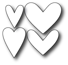 Simon Says Stamp LARGE HEARTS SET Craft Die S143 * zoom image