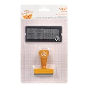 American Crafts Amy Tangerine LOVELY Calendar Stamp Set Yes Please zoom image