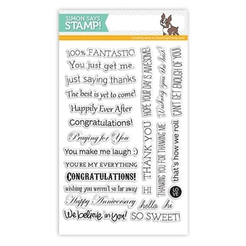 Simon Says Clear Stamps TILTED BANNER SAYINGS sss101307