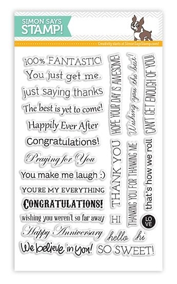Simon Says Clear Stamps TILTED BANNER SAYINGS sss101307 zoom image