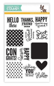 Simon Says Clear Stamps SQUARE SAYINGS sss101308 * zoom image