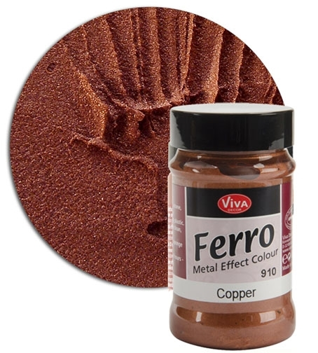 Viva Decor COPPER FERRO Metal Effect Texture Color Ferro910 or 132491 zoom image