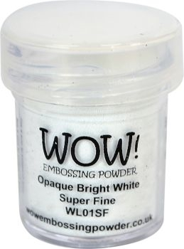 WOW Embossing Powder OPAQUE BRIGHT WHITE SUPER FINE WL01SF