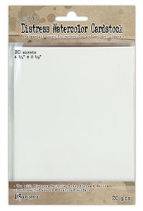 Tim Holtz 4.25 X 5.5 DISTRESS WATERCOLOR CARDSTOCK Ranger Ink TDA39549