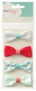 American Crafts Dear Lizzy FABRIC BOWS Polka Dot Party zoom image
