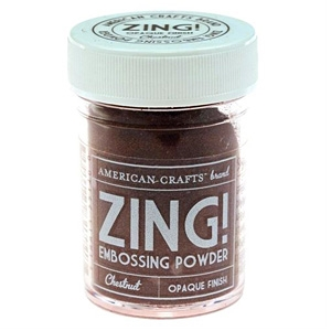 American Crafts Zing! CHESTNUT Opaque Embossing Powder