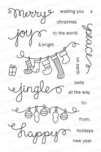 Newton's Nook Designs HOLIDAY WISHES Clear Stamp Set 20131003