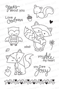 Newton's Nook Designs SWEETHEART TAILS Clear Stamp Set 20140102