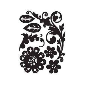 Tim Holtz Idea-ology MINI MASK FLORETS Stencil Tool Flower Leaves  TH92802 zoom image