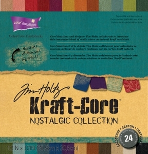 Tim Holtz Core'dinations KRAFT CORE NOSTALGIC 12 x 12 Paper Stack GX-1920-00 zoom image