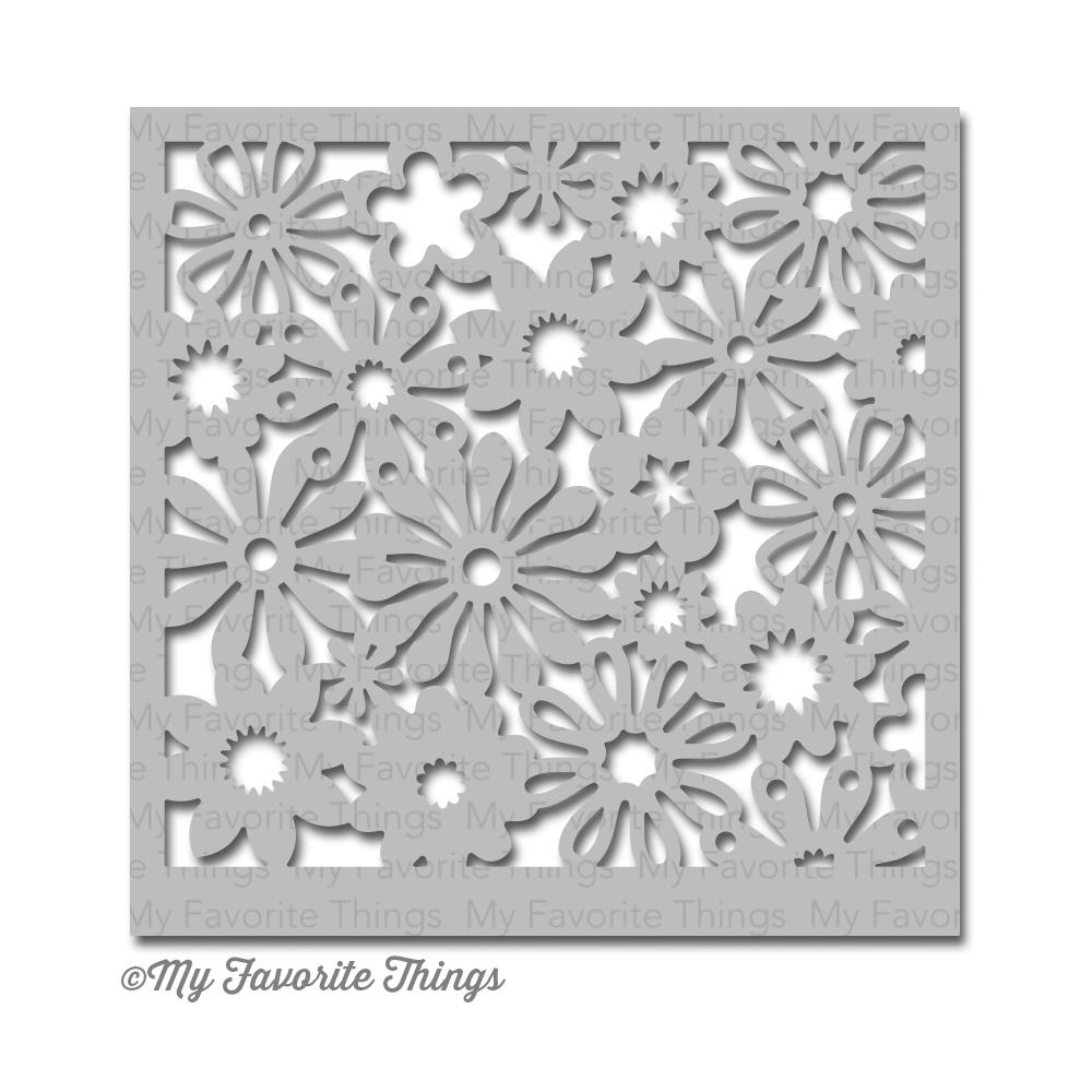 My Favorite Things FUNKY FLORALS Mix-ables Stencil MFT zoom image