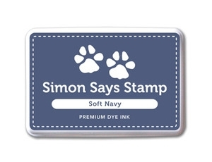 Simon Says Stamp Premium Dye Ink Pad SOFT NAVY Blue Ink021