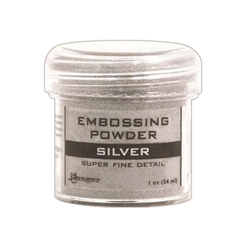 Ranger Embossing Powder SUPER FINE SILVER Detail EPJ37415