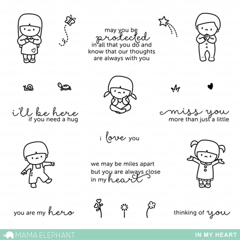 Mama Elephant Clear Stamp IN MY HEART Set ME1406-073 zoom image