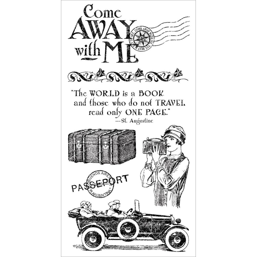Graphic 45 COME AWAY WITH ME #1 Cling Stamps IC0308 zoom image