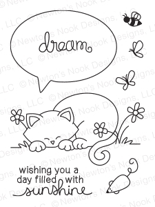 Newton's Nook Designs NEWTON'S DAY DREAM Clear Stamp Set 20140704 zoom image
