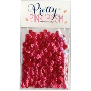 Pretty Pink Posh 4MM RASPBERRY Cupped Sequins