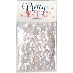 Pretty Pink Posh 4MM MARSHMALLOW Cupped Sequins