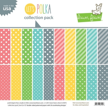Lawn Fawn LET'S POLKA 12 x 12 Collection Pack LF875