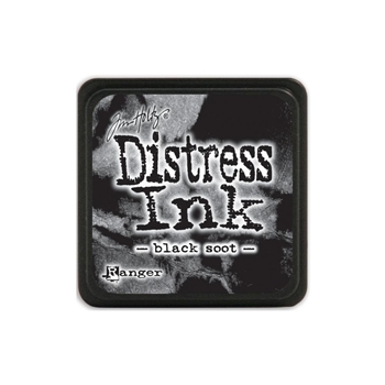 Tim Holtz Distress Mini Ink Pad BLACK SOOT Ranger TDP39860