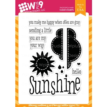 Wplus9 SENDING SUNSHINE Clear Stamps CL-WP9SSU