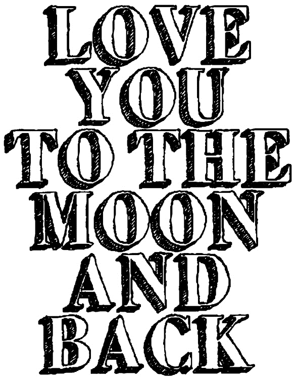 Tim Holtz Rubber Stamp 2015 TO THE MOON Stampers Anonymous K12613 zoom image