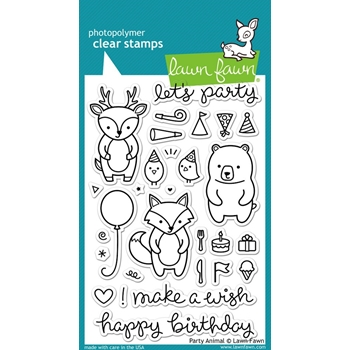 Lawn Fawn PARTY ANIMAL Clear Stamps LF893