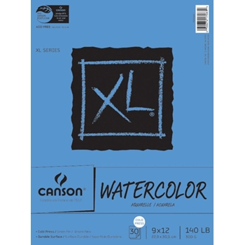 Canson XL WATERCOLOR PAPER 9x12 Pad 726259