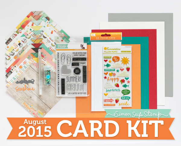 Simon Says Stamp August 2015 Card Kit Reveal (u0026 GIVEAWAY!)