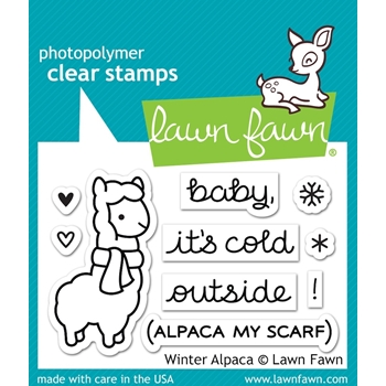 Lawn Fawn WINTER ALPACA Clear Stamps LF981