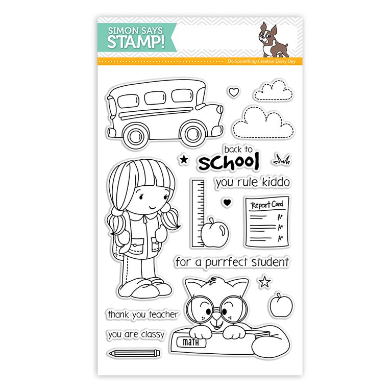 Simon Says Clear Stamps BACK TO SCHOOL sss101554 STAMPtember