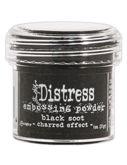 Tim Holtz Distress Embossing Powder BLACK SOOT Ranger TIM21094 zoom image