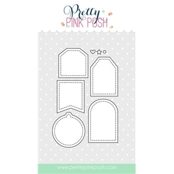 Pretty Pink Posh MINI TAGS Die Set