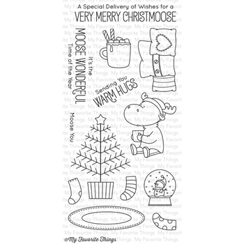 My Favorite Things MERRY CHRISTMOOSE Clear Stamps BB26