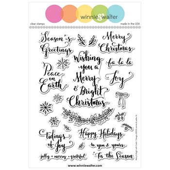 Winnie and Walter MERRY AND BRIGHT WITH EVELIN T DESIGNS Clear Stamps WW055