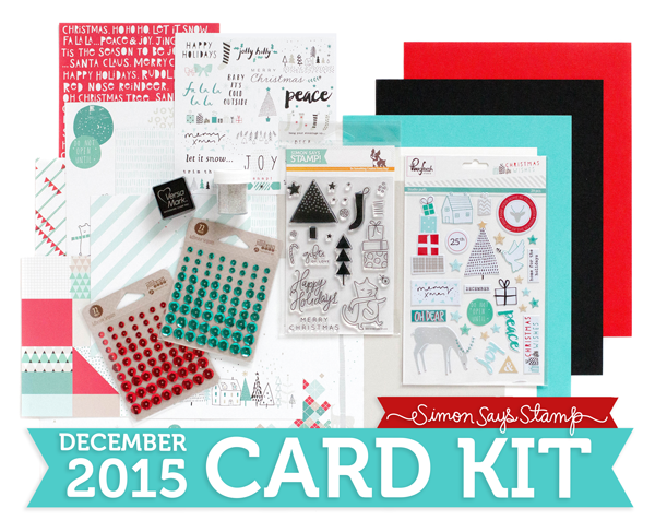 Simon Says Stamp Card Kit of the Month December 2015 GIFTS OF LOVE CKDEC15 zoom image