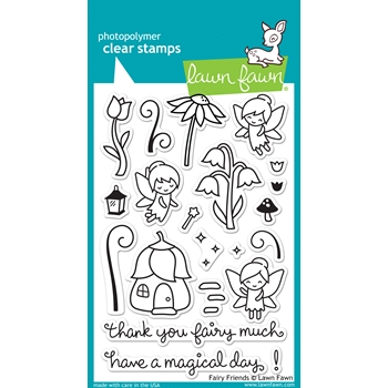 RESERVE Lawn Fawn FAIRY FRIENDS Clear Stamps LF1057