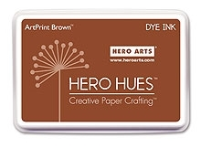 Hero Arts DYE Ink Pad ARTPRINT BROWN AF120 zoom image