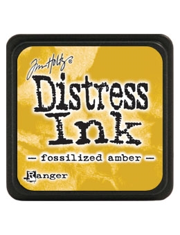 Tim Holtz Distress Mini Ink Pad FOSSILIZED AMBER Ranger TDP46783