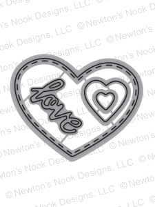 Newton's Nook Designs DARLING HEARTS DIE Set 20160103