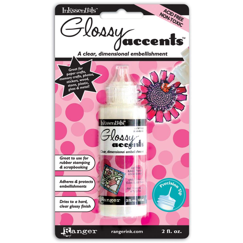 Ranger Inkssentials GLOSSY ACCENTS Glue Dimensional Adhesive GAC17042 zoom image