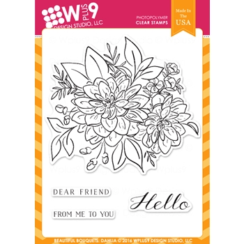 Wplus9 BEAUTIFUL BOUQUET DAHLIA Clear Stamps CLWP9BBD