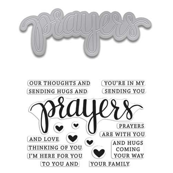 Hero Arts Stamp And Cuts PRAYERS Coordinating Set DC183
