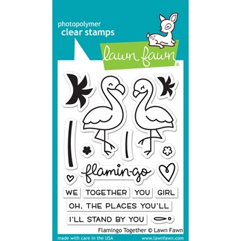Lawn Fawn FLAMINGO TOGETHER Clear Stamps LF1173