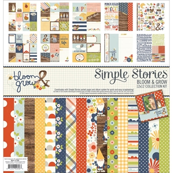 Simple Stories BLOOM AND GROW 12 x 12 Collection Kit 7100