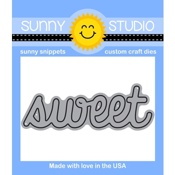 Sunny Studio Snippets SWEET WORD Die Set SUNNYSS802