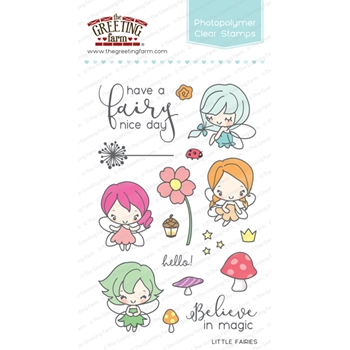 The Greeting Farm LITTLE FAIRIES Clear Stamps TGF254
