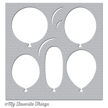 My Favorite Things BIG BALLOONS Mixables Stencil MFT ST97