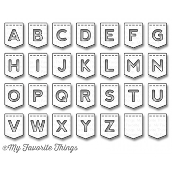 My Favorite Things STITCHED BANNER ALPHABET Die-Namics MFT932